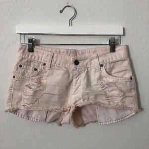 CarMar Light Pink Jean shorts